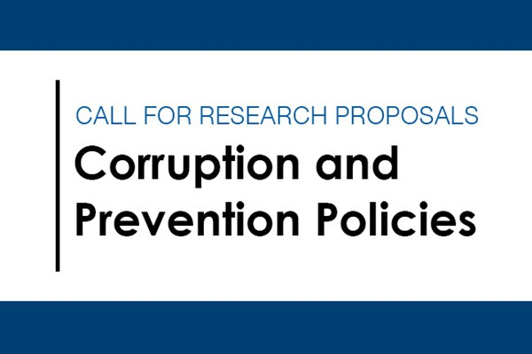 Call for research proposals: Corruption and Prevention Policies