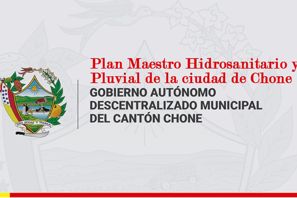 Water Sanitation and Rainwater Master Plan for the City of Chone