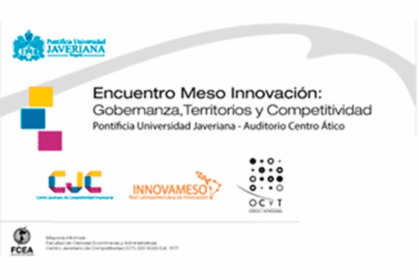 Meso innovation meeting: governance, territories, and competitiveness